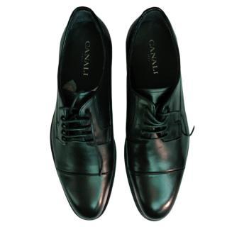 Canali Men's Black Patent Derbys