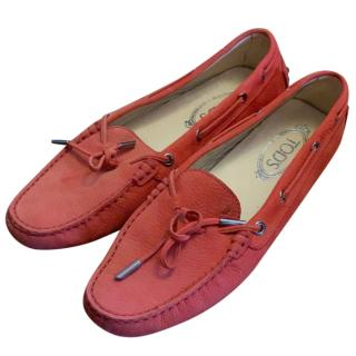 Tod's Red Gommino Loafers