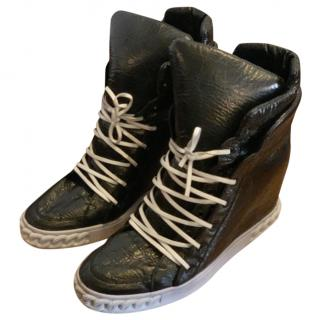 Casadei leather wedge sneakers