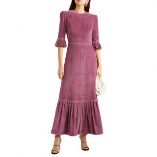The Vampires Wife Festival ruffled cotton-corduroy maxi dress