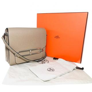 Hermes Clemence Leather Roulis 23 Crossbody Bag