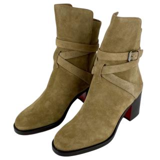 Christian Louboutin Karistrap 70 Suede ankle boots