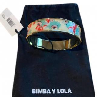 Bimba y Lola printed gold tone bangle