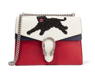 Gucci Dionysus medium panther appliqu�d leather shoulder bag