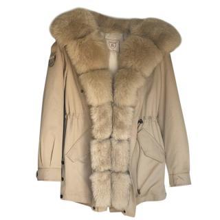 Thomas Bieber Fur Collection Rabbit & Fox Fur Coat