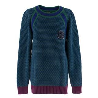 Chanel Embellished CC Cashmere Jumper