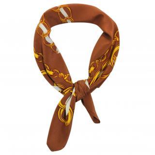 Dolce & Gabbana brown chain print scarf