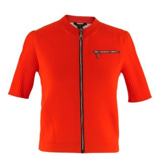 Louis Vuitton Red Zip Front Sport Top