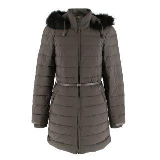 Loro Piana Midnight Grey Fur Puffer Jacket