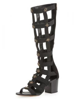Jimmy Choo Jewelled Suede Myriad Sandals