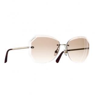 Chanel Beige Oversize Sunglasses - New Season