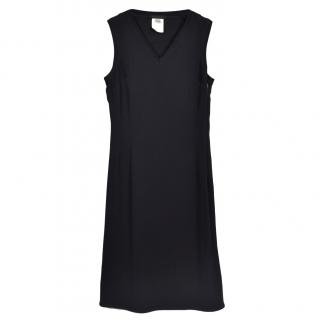Narciso Rodriguez Black Silk Sleeveless Dress