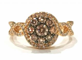 Le Vian Chocolate & White diamond cluster ring