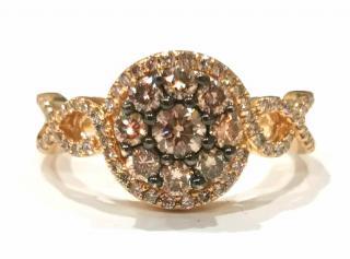 Le Vian Chocolate & White diamond cluster ring