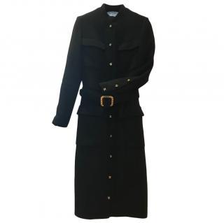 Chanel Vintage Rare Couture Black Pocket Belt Dress