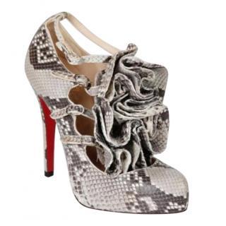 Christian Louboutin Snakeskin Adona Sandals