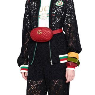 Gucci Marmot red leather belt bag