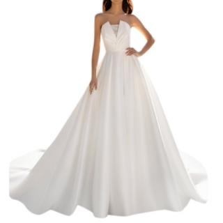 Pronovias ivory Mikado wedding dress