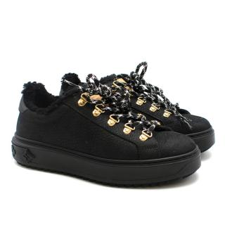 Louis Vuitton Time Out Padded Black Trainers