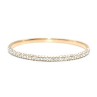 Bespoke 18ct Rose Gold Pave set 8.37 carat Diamond Bangle