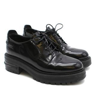 Christian Dior Track Sole Black Brogue Shoes