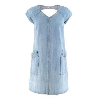 Chanel Cut Out Denim Dress