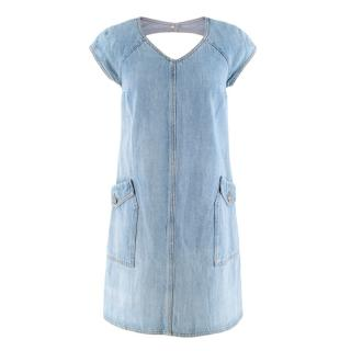 Chanel Cut Out Denim Dress