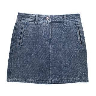 Chanel Camellia Embroidered Mini Skirt