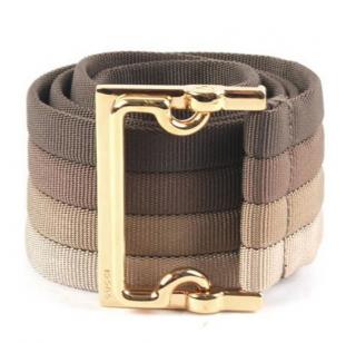 Gucci vintage nylon striped belt