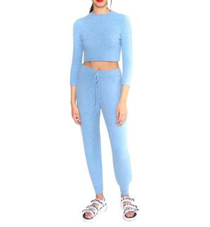 JoosTricot Sky Blue Cuddle Cashmere Joggers & Top - New Season
