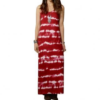 Ralph Lauren Denim & Supply Tank Maxi Dress in Red & White Tie Dye