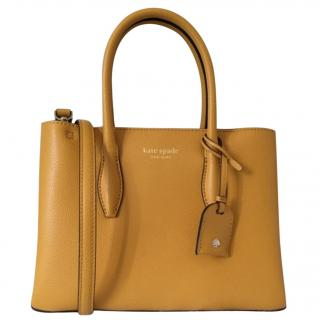 Kate Spade Mustard Yellow Eva Medium Satchel