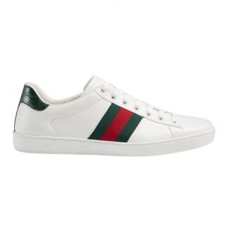 Gucci Green Web Stripe Ace Sneakers