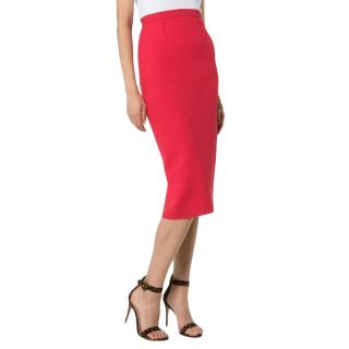 Roland Mouret Arreton pink pencil skirt
