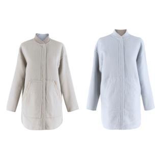 Loro Piana Stone/Light Blue Reversible Cashmere Jacket