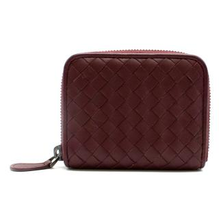 Bottega Veneta medium burgundy coin Purse