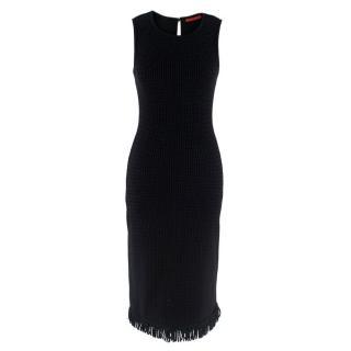 Carolina Herrera Black Merino Wool Dress