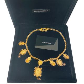 Dolce & Gabbana Gold Chandalier Necklace