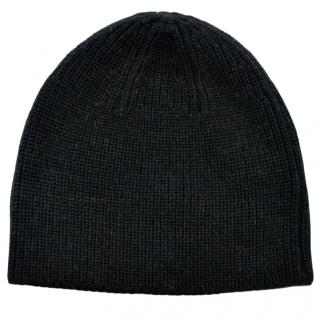 Ralph Lauren ribbed merino wool charcoal hat