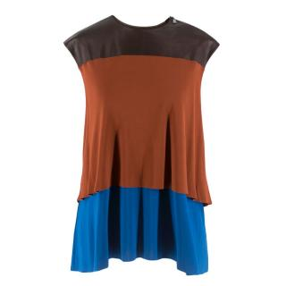 Louis Vuitton leather panel layered top