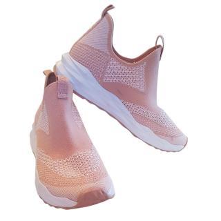 Ash Pink Mesh Sneakers