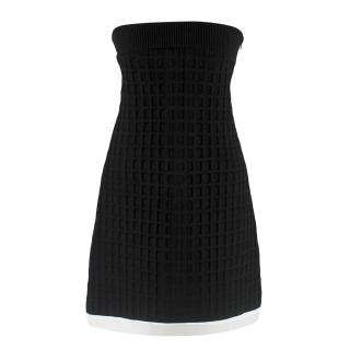 Chanel Rare Black Strapless A-Line Mini Dress
