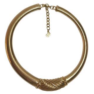 Christian Dior Vintage Yellow Gold Collar