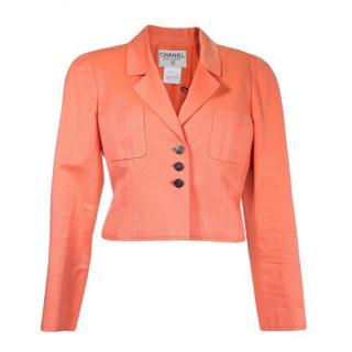 Chanel Salmon Pink Vintage Short Jacket