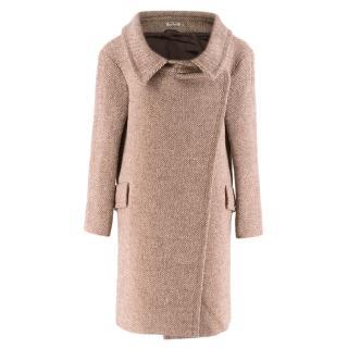Miu Miu Tweed Asymmetric Oversize Coat