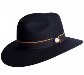 Holland Cooper Navy Wool Trilby Hat