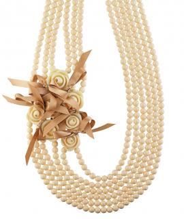 Dyrberg/Kern Ivory Beaded Embellished Necklace