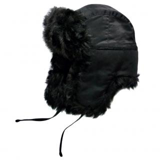 Ralph Lauren Collection black shearling hat