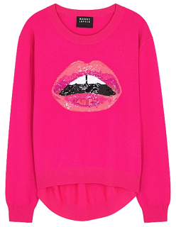 Markus Lupfer Sequin Lips Sweater