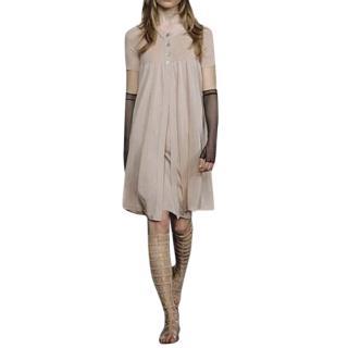 Chanel Beige Resort Collection Dress & Cardigan